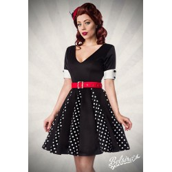 Rochie pin up retro rockabilly vintage fusta larga Godet 1