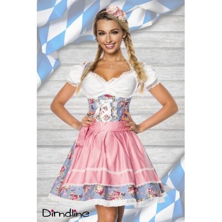 Costum oktoberfest rochie berar fusta Dirndl 0001 Roz