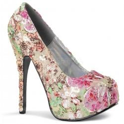 Pantofi TEEZE 06-6 floral