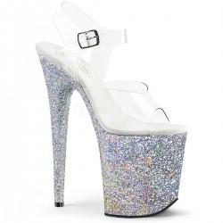 Sandale cu platforma inalta papuci dansatoare  FLAMINGO 808 LG