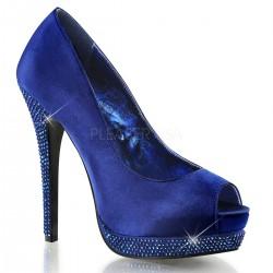 Pantofi BELLA 12 R Satin Albastru