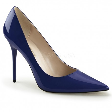 Pantofi stiletto office albastri marimi mari marimea 42 CLASSIQUE 20