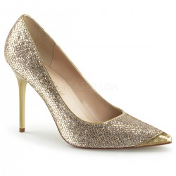Pantofi stiletto office aurii marimi mari marimea 42 de nunta mireasa CLASSIQUE 20