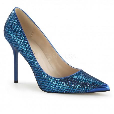 Pantofi albastri stiletto office marimi mari marimea 42 CLASSIQUE 20