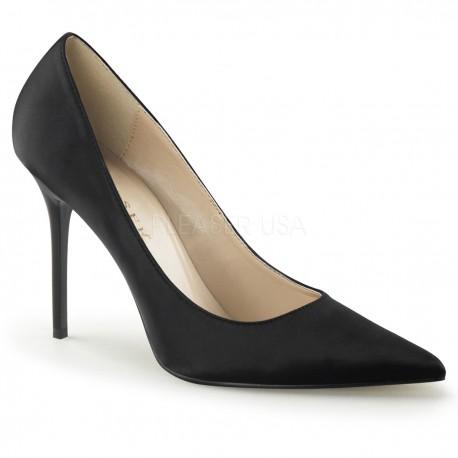 Pantofi office stiletto marimi mari marimea 42 satin CLASSIQUE 20