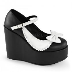 Pantofi gangster stil gotic demonia POISON 04