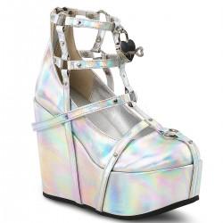 Pantofi holograma stil gotic demonia POISON 25-2