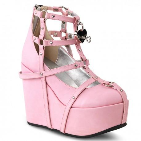 Pantofi stil gotic demonia piele POISON 25-2