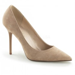 Pantofi office stiletto marimi mari nude CLASSIQUE 20