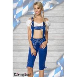 Costum berar pantalon balul vanatorilor festivalul berii Oktoberfest 0027 Albastru