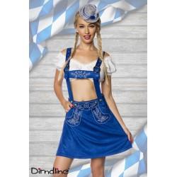 Costum Oktoberfest balul vanatorilor berar festivalul berii 0029 Albastru