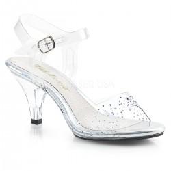 Sandale toc mic de mireasa marimi mari BELLE 308 SD