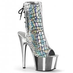 Botine cu toc inalt holograma papuci dansatoare ADORE 1018 HG