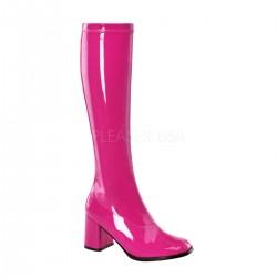cizme roz mulate pe picior sub genunchi toc gros mic teatru marimi mari GOGO 300