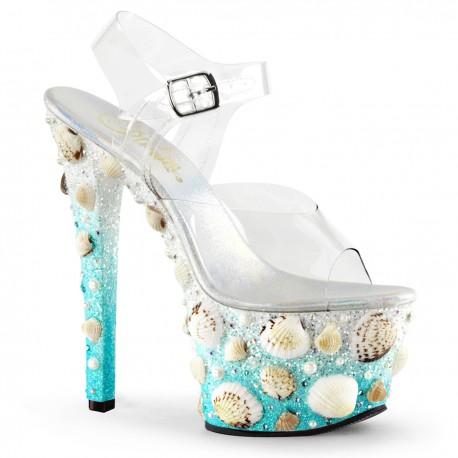 Sandale cu toc inalt papuci sexy club SKY 308 MERMD