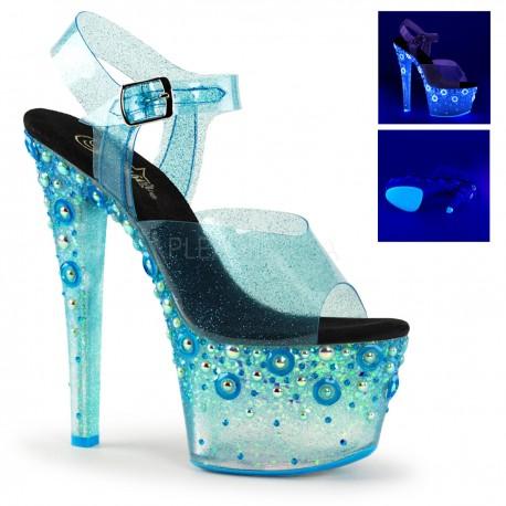 Sandale cu platforma transparenta papuci dans la bara SKY 308 MMG