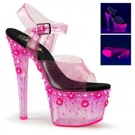 Sandale cu platforma transparenta papuci dansatoare SKY 308 UVMG