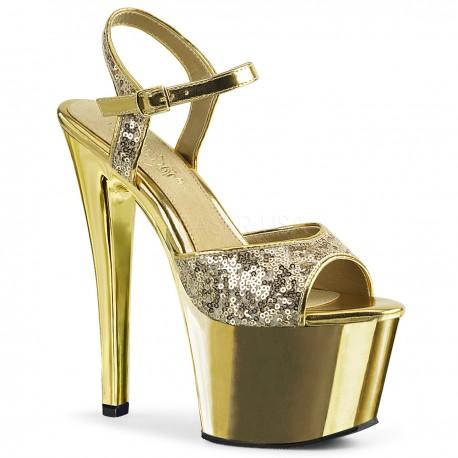Sandale cu toc inalt papuci animatoare club SKY 310 SQ