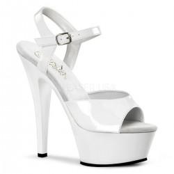 Sandale de mireasa marimea 42, albe, comode KISS 209 Alb