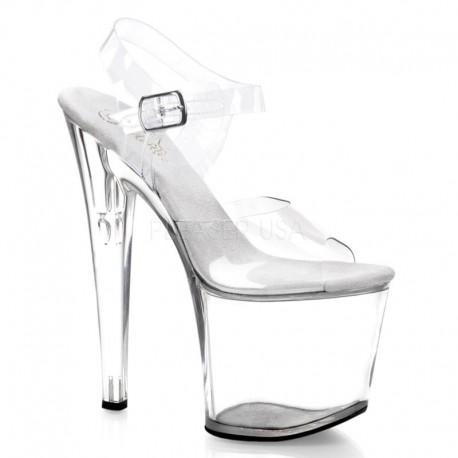 Sandale cu toc inalt papuci cu platforma inalta dansatoare TABOO 708