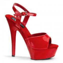 Sandale rosii comode marimi mari KISS 209