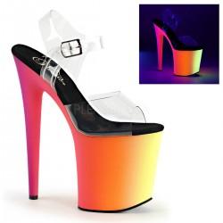 Sandale dansatoare cu toc inalt RAINBOW 808 UV
