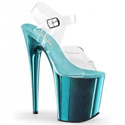 Sandale cu platforma inalta papuci de club FLAMINGO 808 Roz