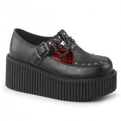 Pantofi stil gotic lolita talpa lata CREEPER 215