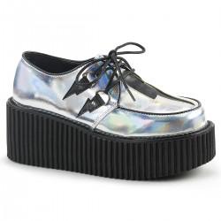 Pantofi stil gotic lolita punk holograma CREEPER 216