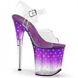 Sandale cu platforma inalta papuci dansatoare sexy club STARDUST 808 T