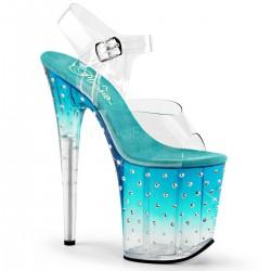Sandale cu toc inalt papuci dansatoare club STARDUST 808 T