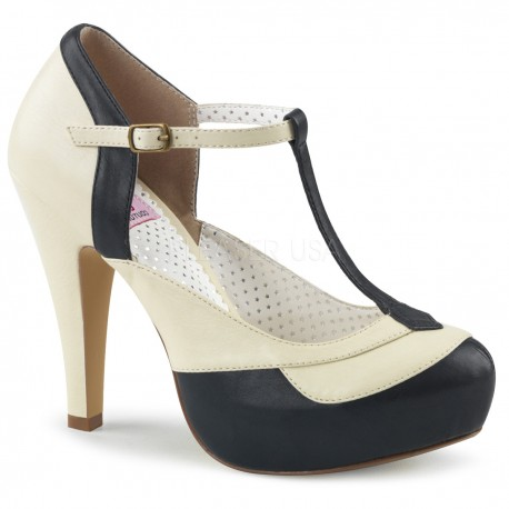 pantofi rockabilly pin up retro toc mediu BETTIE 29