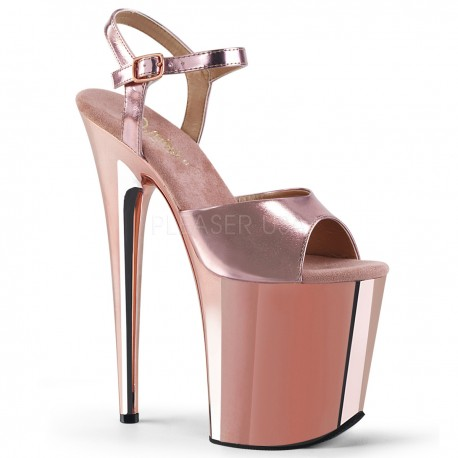 Sandale cu toc inalt papuci dans la bara FLAMINGO 809 Argintiu