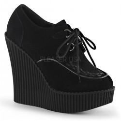 Pantofi stil gotic cu talpa ortopedica CREEPER 302