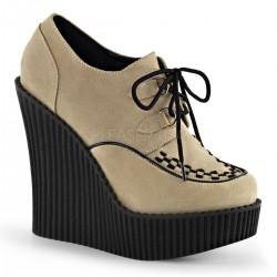 Pantofi talpa ortopedica gotic piele CREEPER 302