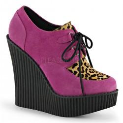 Pantofi piele demonia talpa ortopedica CREEPER 304