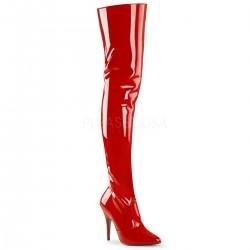 Cizme peste genunchi marimi mari rosii SEDUCE 3010
