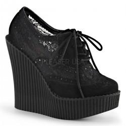 Pantofi talpa ortopedica domina piele CREEPER 307