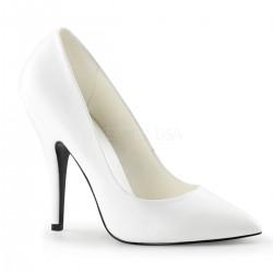 Pantofi de mireasa toc mediu marimi mari SEDUCE 420 Alb