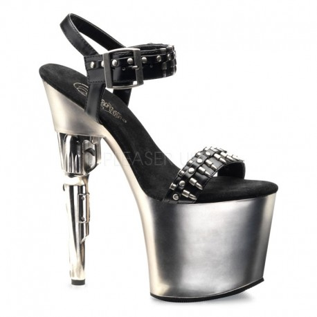 sandale cu toc revolver papuci de sexy club BONDGIRL 712