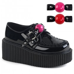 Pantofi stil gotic demonia talpa lata CREEPER 222