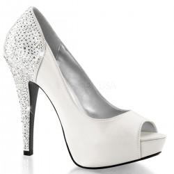 Pantofi de mireasa comozi pin up argintii LOLITA 08