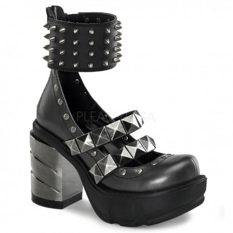 Pantofi stil gotic, demonia toc gros SINISTER 62