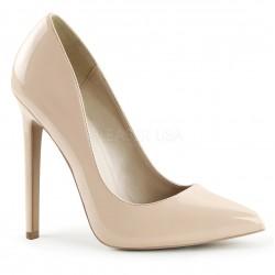 Pantofi stiletto toc inalt SEXY 20 Nude lac