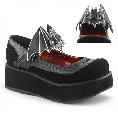 Pantofi stil gotic talpa lata demonia lac lolita SPRITE 09