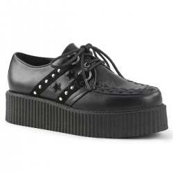 Pantofi V-CREEPER 538 piele stil gotic demonia talpa lata