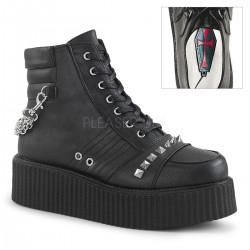 Pantofi V-CREEPER 565 piele stil gotic demonia talpa lata