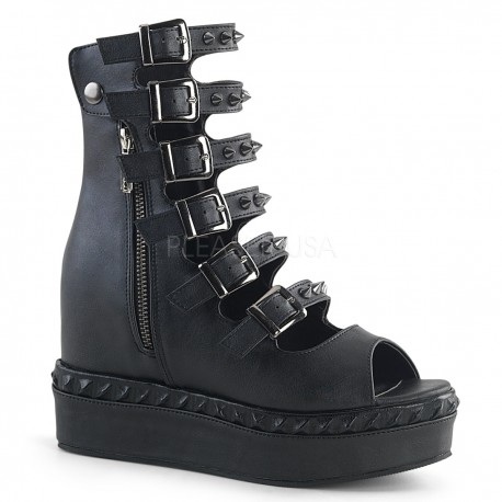 Pantofi VENOM 110 piele stil gotic demonia talpa lata