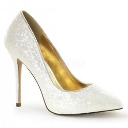 Pantofi albi stiletto comozi de mireasa AMUSE 20