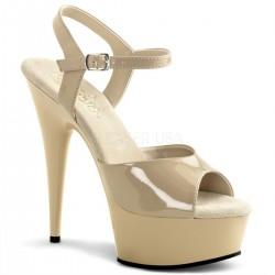 Sandale marimi mari comode crem DELIGHT 609